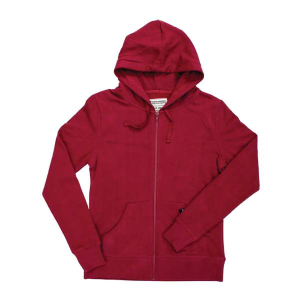 Women's Organic Cotton Zip Pomegranate Hoodie L