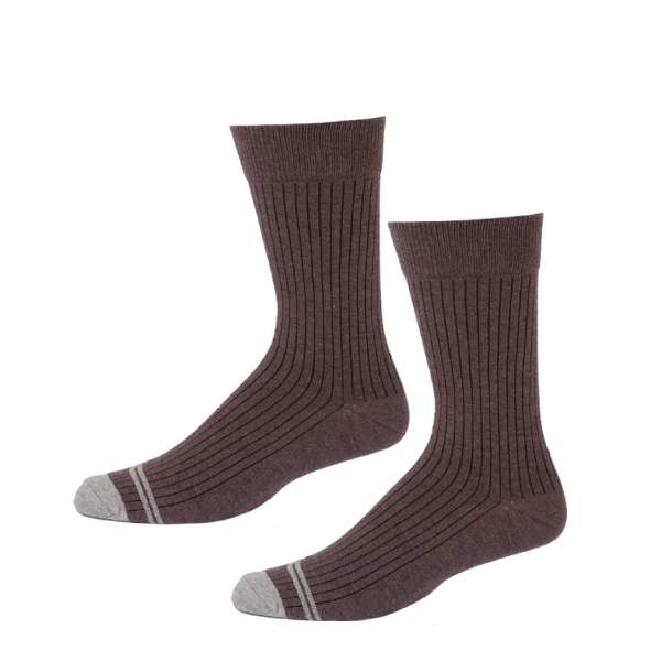 Mens Brown Everyday Crew Sock