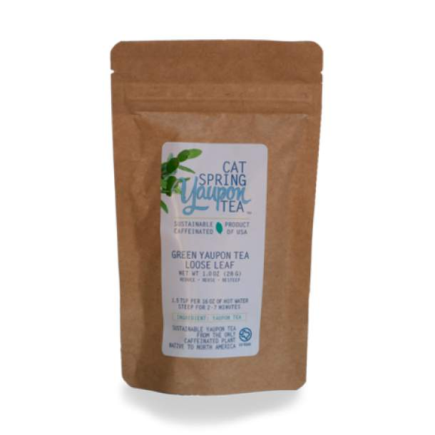 Green Yaupon Tea, 1oz Loose Leaf Pouch