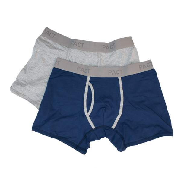Mens Everyday Heather Gray/Navy Boxer Briefs L