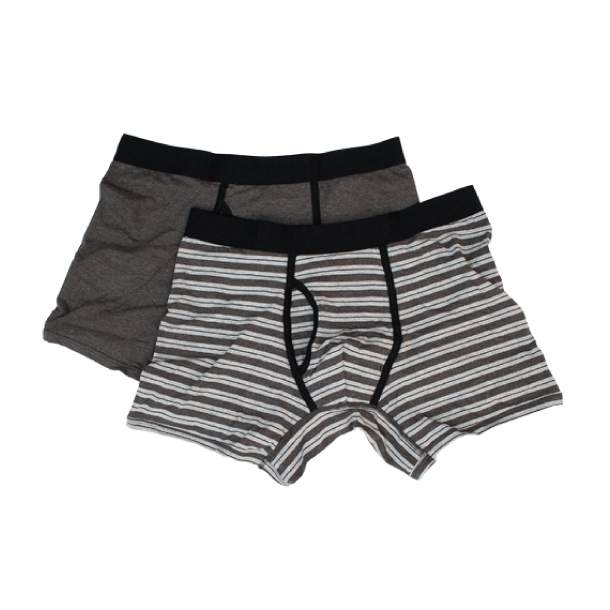 Mens Everyday Charcoal/Heather Gray Boxer Briefs  L